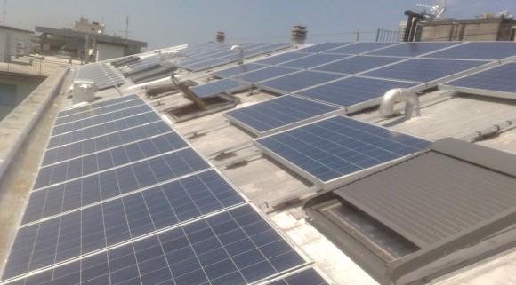Pannelli solari sul tetto dell'Hotel Concord Riccione Rimini