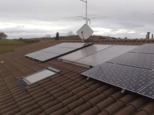 Particolare pannelli solari San Clemente Rimini
