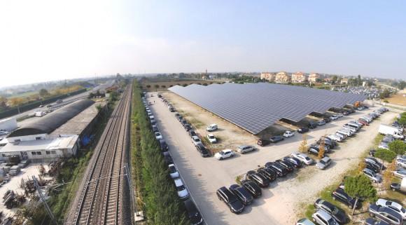 Mega impianto fotovoltaico Fiera di Rimini